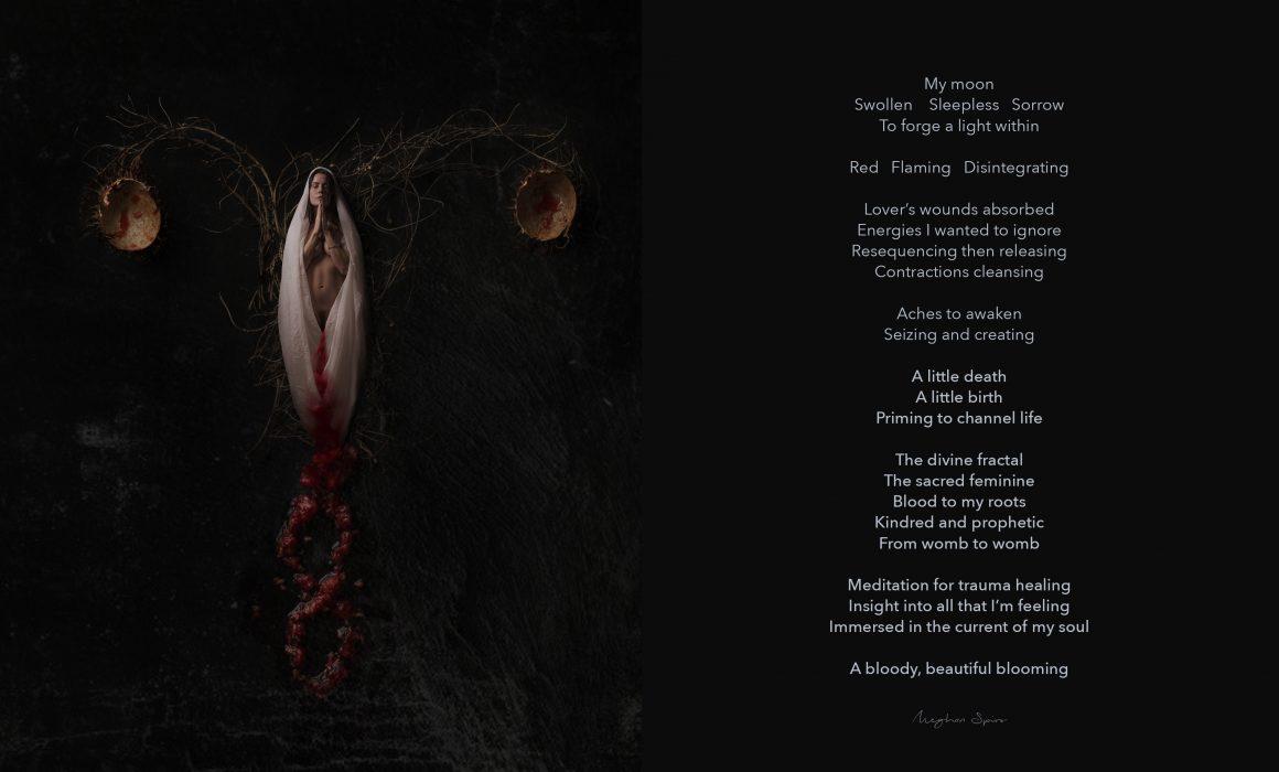 My Moon, artwork and poetry by Meghan Spiro